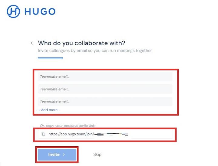 hugo meeting 使い方